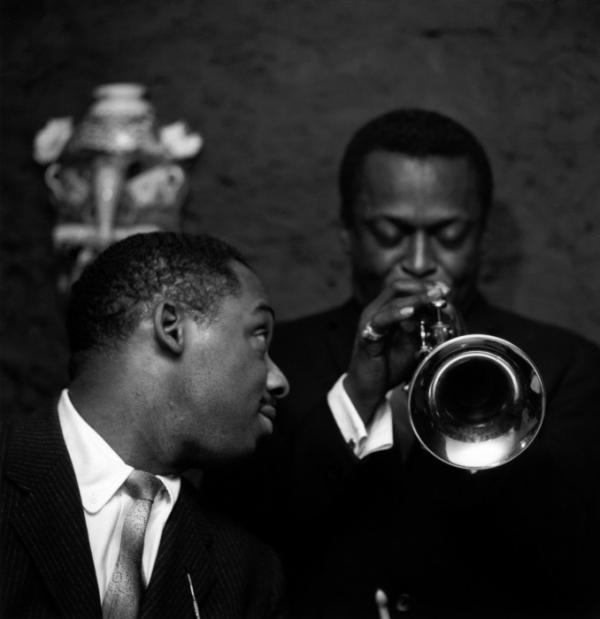 Kenny Clarke et Miles Davis, Club Saint-Germain, Paris le 5 décembre 1957