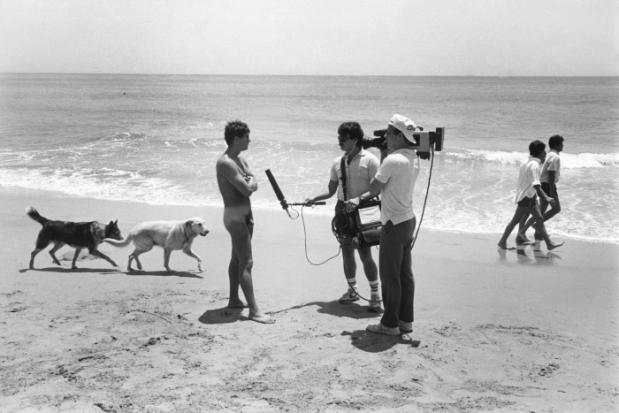 Interview d'un nudiste, plage de Santa Barbara, Californie, 1983